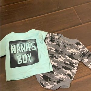 Onesie and t-shirt